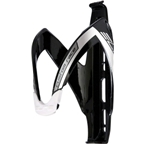 Elite Custom Race Water Bottle Cage: Black/White