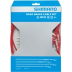 Shimano Road PTFE Brake Cable & Housing Set Red