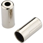 Jagwire 5mm Open Pre-Crimped End Caps Chrome Plated Bottle of 200