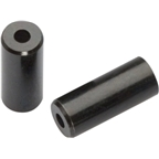 Jagwire 4mm Open Brass End Cap Black Bottle of 50