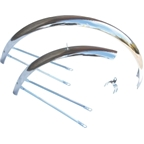"Wald Middleweight 952-26"" Chrome Fender Set"