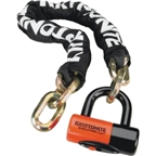 Kryptonite New York Chain & Evolution Disc Lock: 3.25 Feet (100cm)