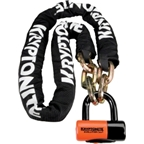 Kryptonite New York Chain & Evolution Disc Lock: 5.5 Feet (170cm)