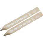 Power Grips Straps Standard (295mm) with Hardware, Tan/Argyle