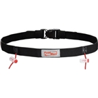 FuelBelt Reflective Race Number Belt: Black; One Size