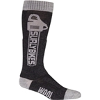 Surly Tall Chainsaw Wool Sock: Black