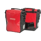 Ortlieb Sport-Roller City Front Pannier: Pair; Red/Black (Formerly Front-Roller City)