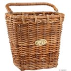 Nantucket Pannier Basket with Hooks: Honey