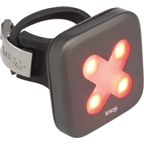 Knog Blinder 4 Cross USB-Rechargeable Safety Light: Red LED; Gunmetal