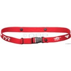 TYR Race Number Belt: Red