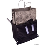 Banjo Brothers Minnehaha Canvas Grocery Pannier: Black; Each