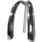 Velo Orange 700c Zeppelin Fender Set: Polished Silver; 52mm