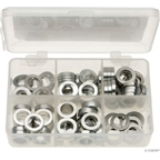 Kit of six assorted sizes (.5 to 5mm),  125 spacers in storage box
