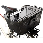 Axiom Pet Basket with Rack Mount and Handlebar Mount: Black