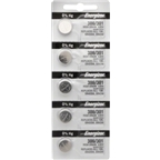 Energizer 386/301 Silver Oxide: Card of 5