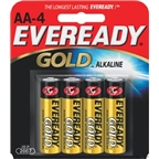Eveready Gold AA Alkaline Battery: 4-Pack