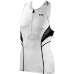 TYR Men's Competitor Tank Top: White/Black