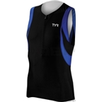 TYR Men's Singlet: Black/Blue