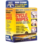 White Lightning Bamboo Cycle Cycle Wipes Individually Wrapped 36pack