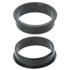 "Problem Solver Headtube Reducer Reduces 37mm to 34mm (1-1/4"" to 1-1/8"" headset) Black"