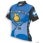 World Jerseys Women's Biker Chick Cycling Jersey - Blue