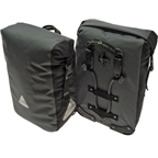 Axiom Monsoon Aero DLX 35 Waterproof Pannier Set: Gray/Black