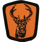 Surly Gasmask Deer Patch: SM; Black/Orange