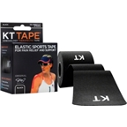 KT Tape Kinesiology Therapeutic Body Tape: Roll of 20 Strips; Black