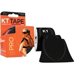 KT Tape Pro Kinesiology Therapeutic Body Tape: Roll of 20 Strips; Jet Black