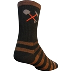 SockGuy Trail Work Wool Sock: Brown/Black