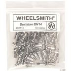 Wheelsmith 2.0 x 16mm Silver Brass Nipples, Bag of 50