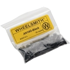 Wheelsmith 2.0 x 12mm Black Alloy Nipples, Bag of 50