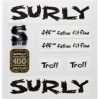 Surly Troll Decal Set with Headbadge: Black