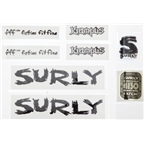 Surly Krampus Frame Decal Set with Headbadge: Black