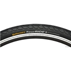 "Continental Tour Ride Tire 27 x 1-1/4"" Black  Steel"