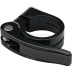 Tranz-X Seatpost Clamp with Quick Release Rubber Handle 35mm Black