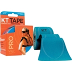 KT Tape Pro Kinesiology Therapeutic Body Tape: Roll of 20 Strips; Laser Blue