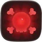 Knog Blinder 1 Skull USB Rechargeable Taillight: Red LED; Black Body