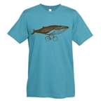 Mechanical Threads Whale T-Shirt: Blue