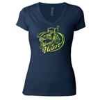 Mechanical Threads Women's Young at Heart T-Shirt: Navy Blue