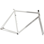 All-City Big Block Track Frame Set - Silver/White