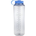Nalgene Wide Mouth Water Bottle: 48oz; Clear Gray