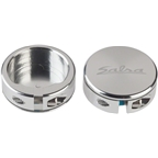 Salsa Lock-On Collars Silver Closed-End