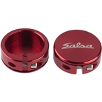 Salsa Lock-On Collars Red Closed-End