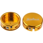 Salsa Lock-On Collars Gold Closed-End