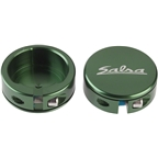 Salsa Lock-On Collars Dark Green Closed-End