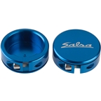 Salsa Lock-On Collars Blue Closed-End