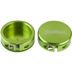 Salsa Lock-On Collars Lime Green Closed-End