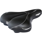 Selle Royal Ellipse Moderate Women's Saddle Black with Steel Rails