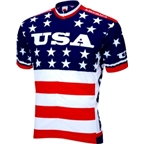 World Jerseys Team USA 1979 Retro Cycling Jersey: Red/White/Blue